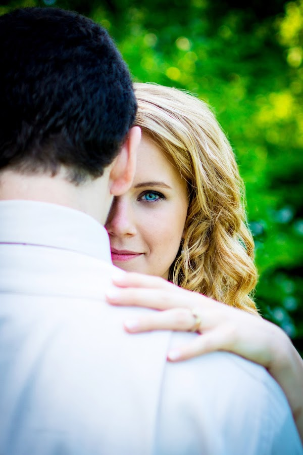 The Blue by Andrew Hale - Wedding Bride & Groom ( blue, green, wedding, bride and groom, bride )