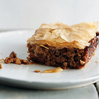 Eggplant and Walnut Phyllo Pie.
