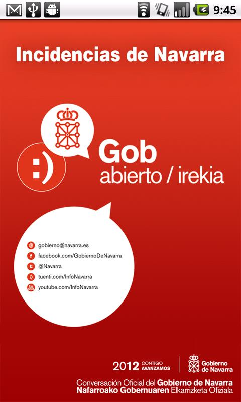 oGob Navarra- screenshot