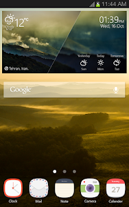 Landscape Weather Widget screenshot 1
