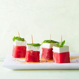 Feta-Watermelon Stacks.