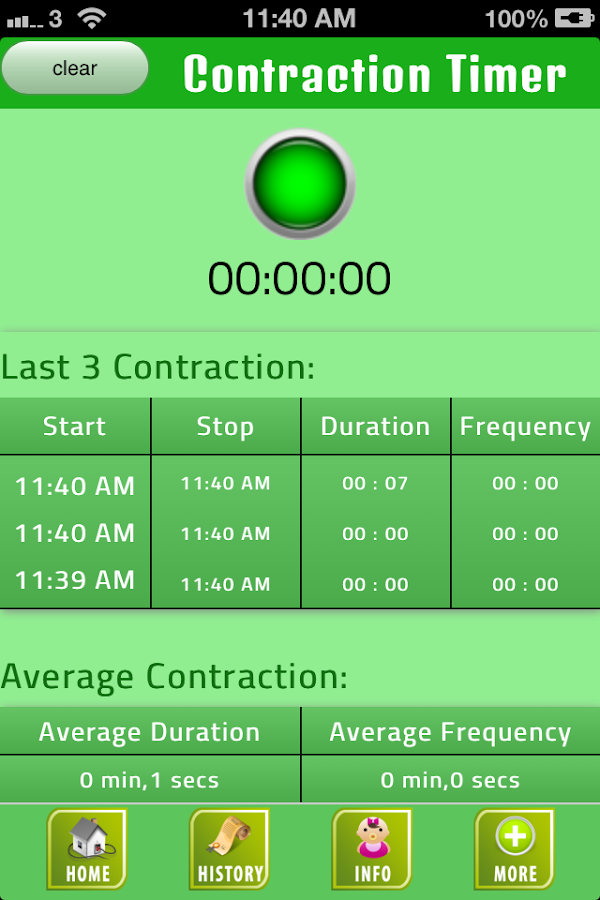 Labor Contraction Timer- screenshot