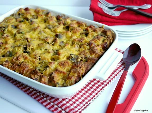 Kielbasa-Bagel Breakfast Casserole Recipe
