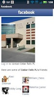 Screenshot of Cedar Falls Public Library