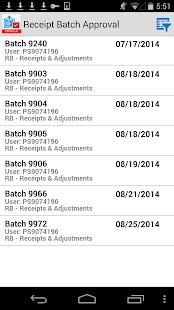 Receipt Batch Appr for JDE E1 - náhled
