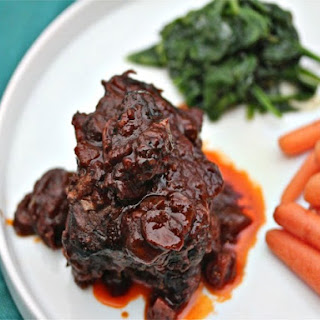 Braised Short Ribs With Porcini-Port Wine Sauce.