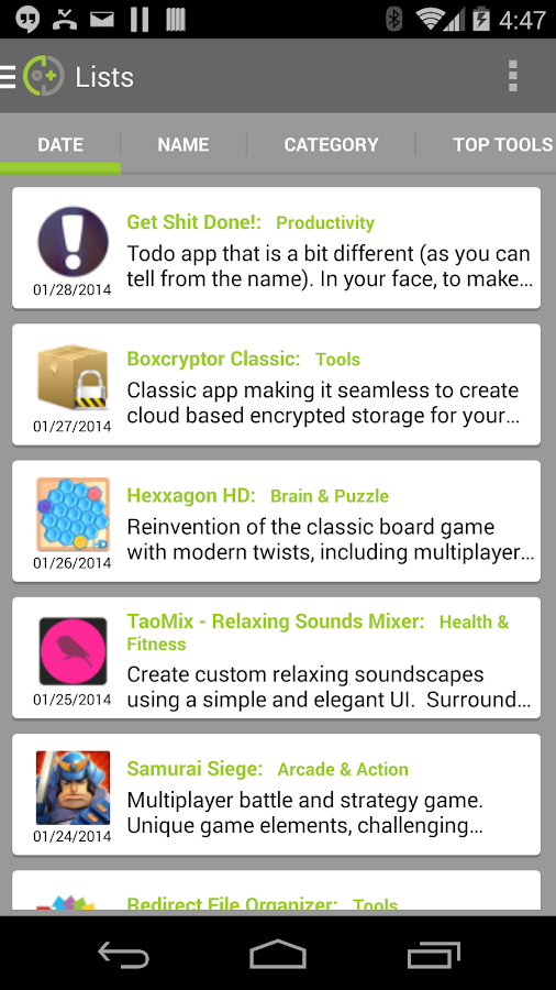 DOTD - Best App Catalog- screenshot
