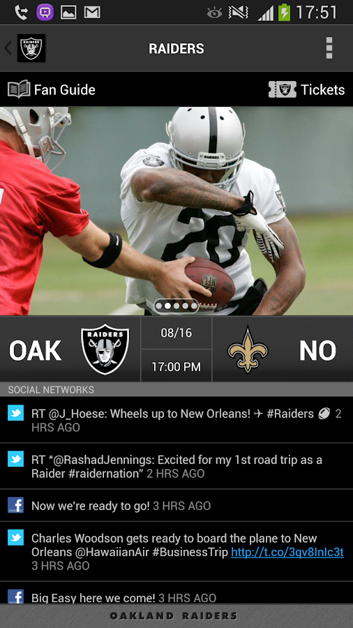 Raiders App - screenshot