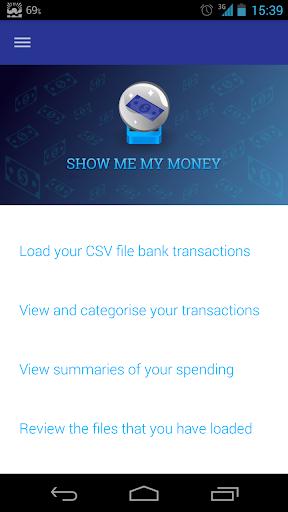 Show Me My Money