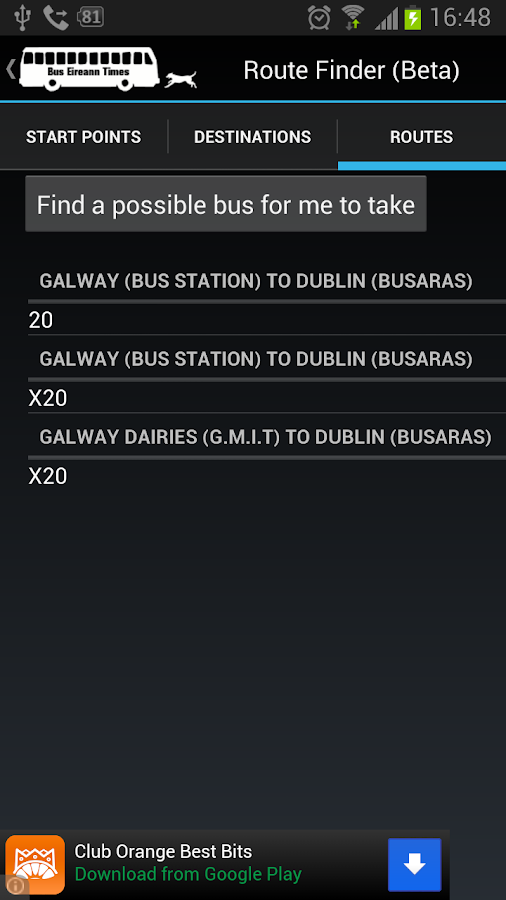 Bus Eireann Times (Legacy)- screenshot