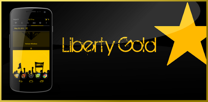 Gummy CM9 Theme Liberty Gold apk