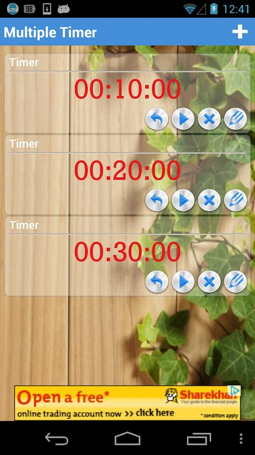 Multiple Timer Lite- screenshot