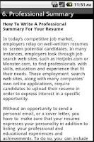 Screenshot of How To Write a CV