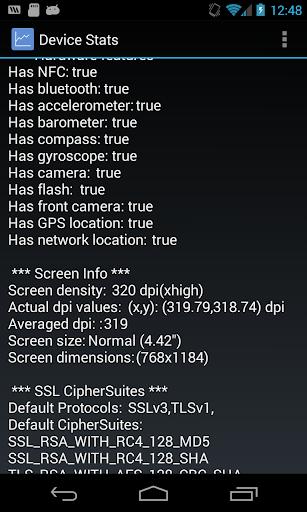 Device Stats
