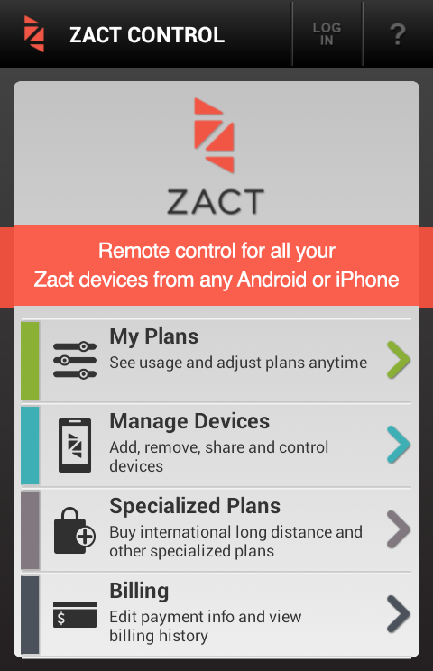 Zact Control - screenshot