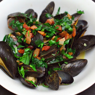 Creamy Mussels with Smoky Bacon and Hard Cider