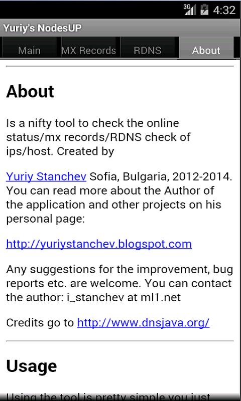 Yuriy's NodesUP - screenshot