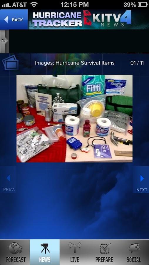 Hurricane Tracker KITV - screenshot