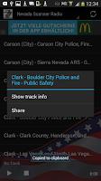 Screenshot of Nevada Scanner Radio Free