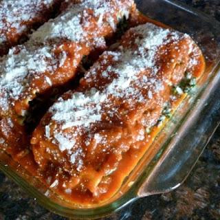 Weight Watchers Healthy Beef & Spinach Lasagna Rolls.