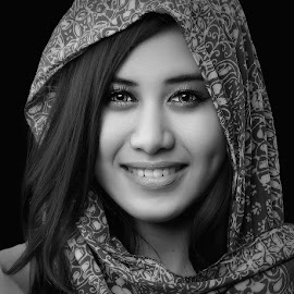 by Dhani Photomorphose - Black & White Portraits & People ( face, photography, closeup, close, up,  )
