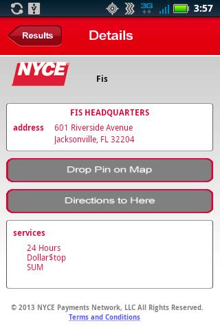 NYCE ATM Locator- screenshot