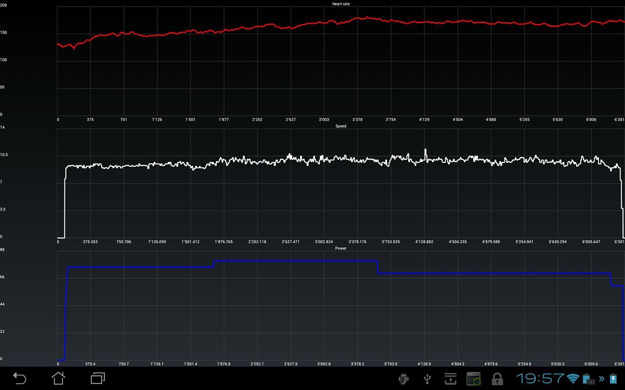 DroidErgometer - screenshot