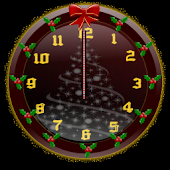 Christmas Glitter Clock Widget