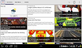Screenshot of News24 Kenya