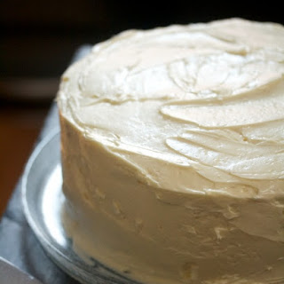 Two-Layer Chocolate Cake with Chocolate Mousse & White Buttercream.