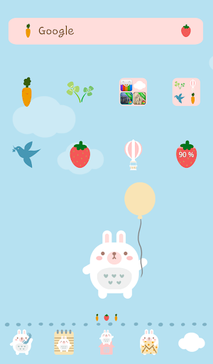 Rabbit 's balloon travel Dodol