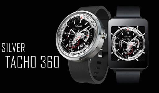 Silver Tacho 360 Watch Face HD