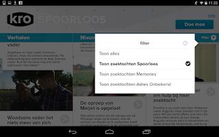 Screenshot of KRO Spoorloos
