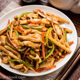 Yu-Xiang Rou-Si (Sichuan Shredded Chicken Stir-Fry, 鱼香肉丝).
