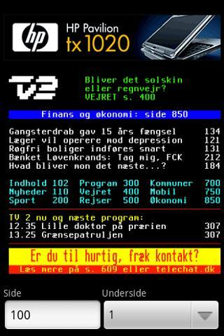 TV 2 | Tekst-TV - screenshot