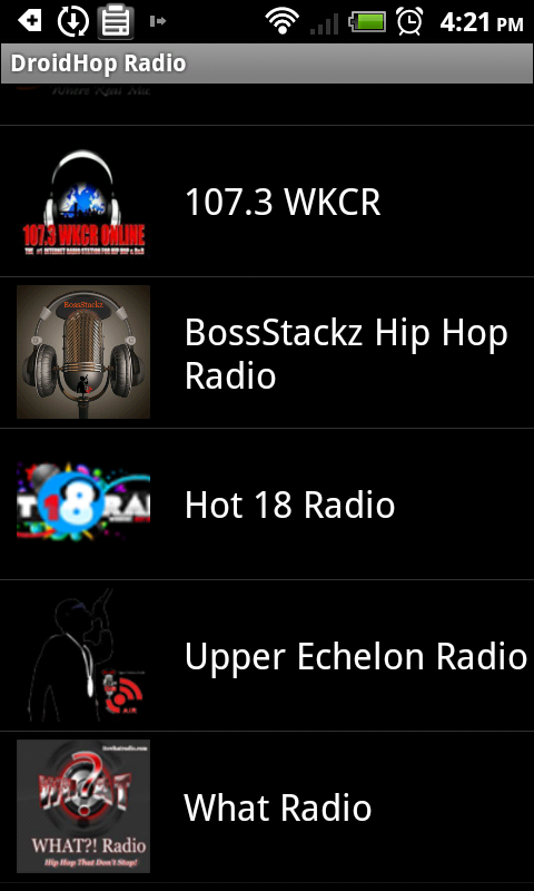 DroidHop Radio Hip Hop SMN - screenshot