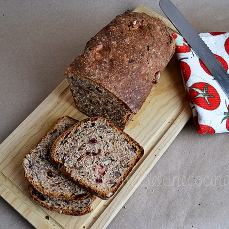 Whole Wheat Bread with Cinnamon, Blueberries, and Raisins