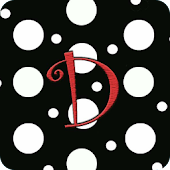 Polka Dot Monogram D Live WP