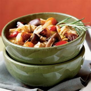 Roasted Vegetable-Rosemary Chicken Soup.