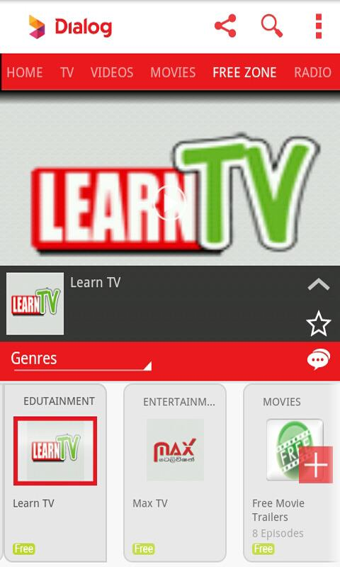 Dialog Live Mobile Tv Online - screenshot