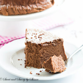 Chocolate Souffle Cheesecake.