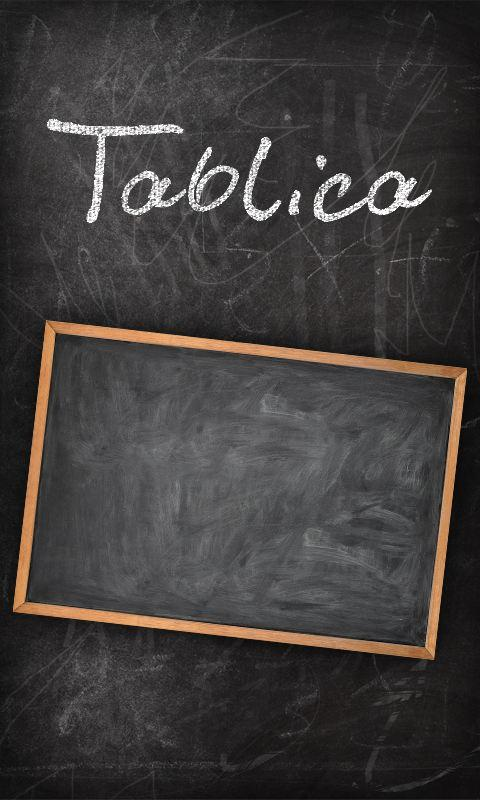 Tablica- screenshot