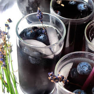 Blueberry Lavender Vodka Spritzer.