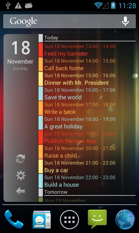 Clean Calendar Widget Pro - screenshot