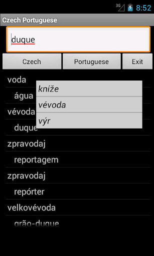 Czech Portuguese Dictionary