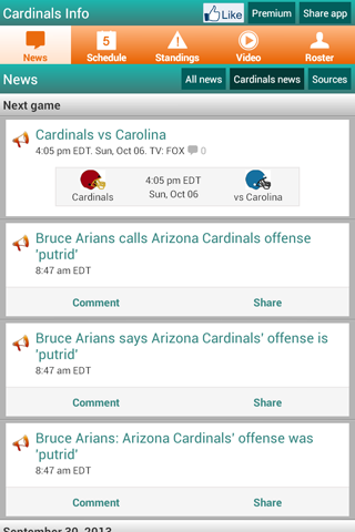 Arizona Football News & Scores - screenshot