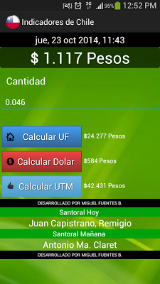 Indicadores de Chile - screenshot