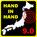 Japan Quake Hand in Hand logo