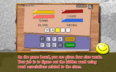 Four Word Association - Puzzle- screenshot thumbnail