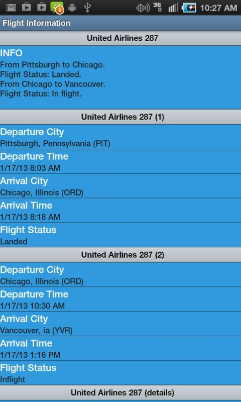 Flight Info Free - screenshot